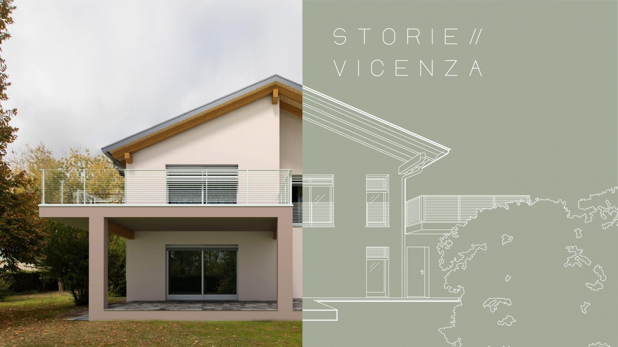 Dentro a una casa in legno a Vicenza